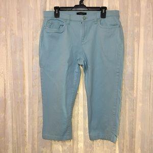 Talbots Petites Blue Capri Pants